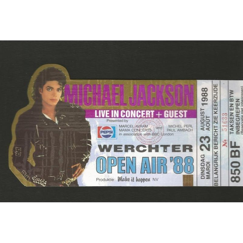 Michael Jackson Ticket Werchter 1988